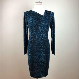 253b4198af23 David Meister Dresses - David Meister Long Sleeve Leopard Print Dress